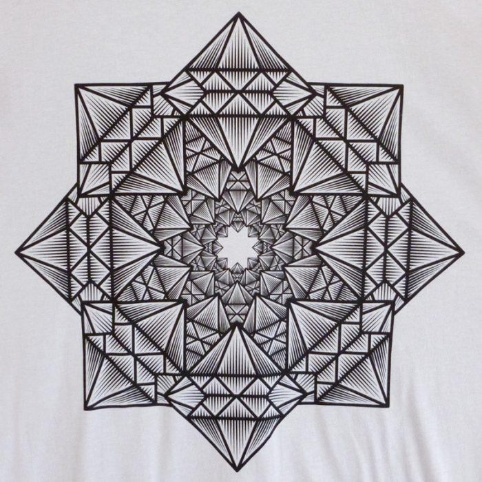 Black Diamond Accento Gray Tshirt Detail